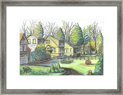 Hometown Backyard View Framed Print by Carol Wisniewski
