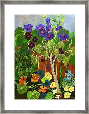 Backyard Wonders Framed Print by Esther Woods