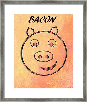 Bacon Framed Print by Dan Sproul
