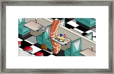 Bacon Detective Framed Print