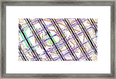 Bacteroid Crisscross Framed Print