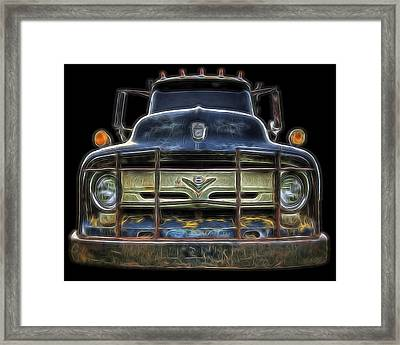 Bad 56 Ford Framed Print