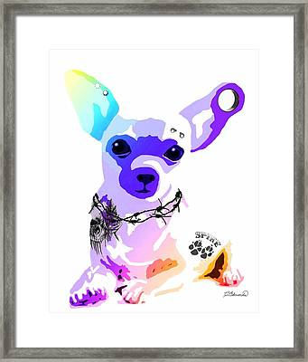Bad A Chihuahua Framed Print by Cindy Edwards
