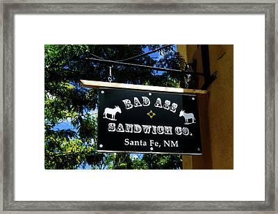 Bad Ass Sandwich Co - Santa Fe - New Mexico Framed Print by Jon Berghoff