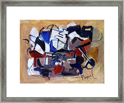 Bad Assed Chopper Ride Framed Print by Betty Pieper