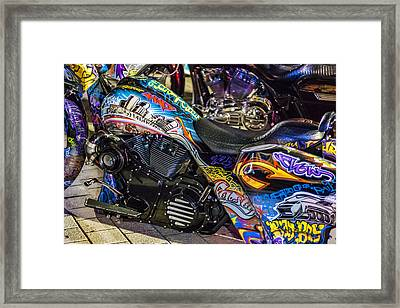 Bad Boy Custom Bike Framed Print