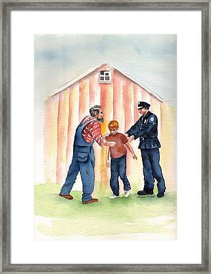 Bad Boy Framed Print by Sharon Mick