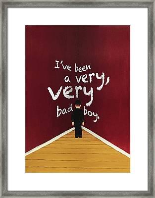 Bad Boy Greeting Card Framed Print by Thomas Blood