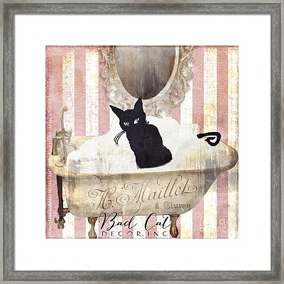Bad Cat I Framed Print by Mindy Sommers