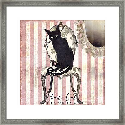 Bad Cat II Framed Print by Mindy Sommers