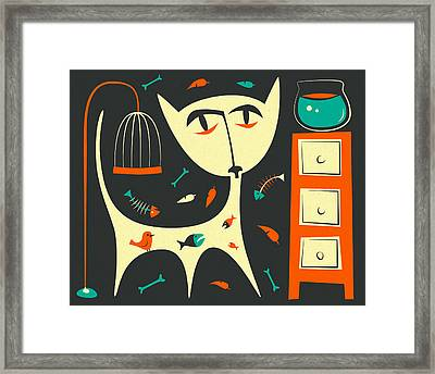 Bad Cat Framed Print by Jazzberry Blue