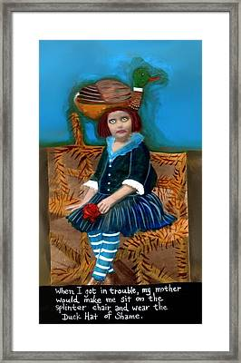 Bad Children Had To Wear The Duck Hat Of Shame Framed Print