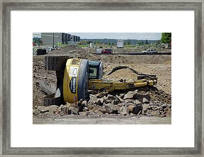 Bad Day At The Office . . . Framed Print by Daniel Hagerman
