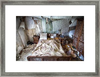 Bad Dream Bedroom - Abandoned House  Framed Print