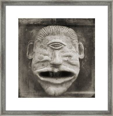 Bad Face Framed Print