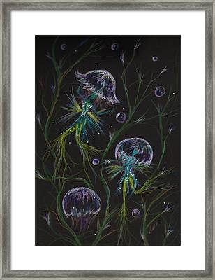 Framed Print featuring the drawing Bad Hair Day Solutions by Dawn Fairies