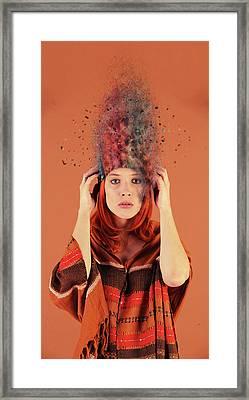Bad Hair Day Framed Print by Nichola Denny