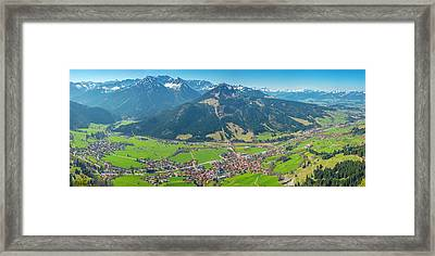 Bad Hindelang Framed Print by Walter Allgoewer