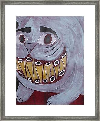 Bad Kitty Framed Print by William Douglas