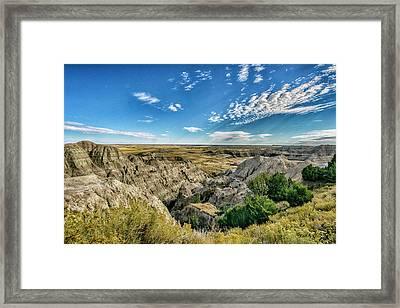 Bad Lands South Dakota.... Framed Print