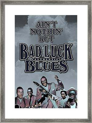 Bad Luck Blues Framed Print by David Richardson