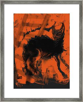 Bad Luck Framed Print by Russell Pierce