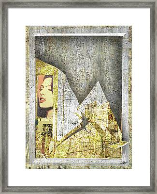 Framed Print featuring the mixed media Bad Luck by Tony Rubino