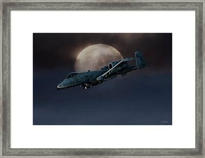 Framed Print featuring the digital art Bad Moon by Peter Chilelli