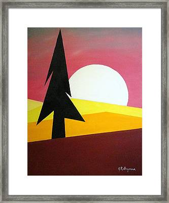 Bad Moon Rising Framed Print by J R Seymour