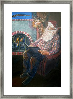 Framed Print featuring the painting Bad Rudolph by Bryan Bustard
