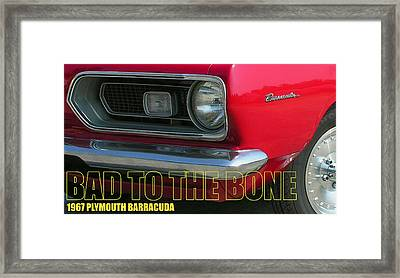 Bad To The Bone Framed Print by Richard Rizzo