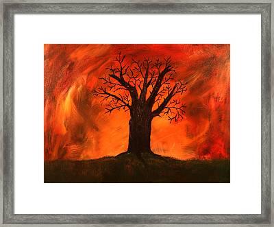 Bad Tree Framed Print