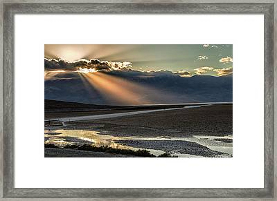 Framed Print featuring the photograph Bad Water Basin Death Valley National Park by Michael Rogers