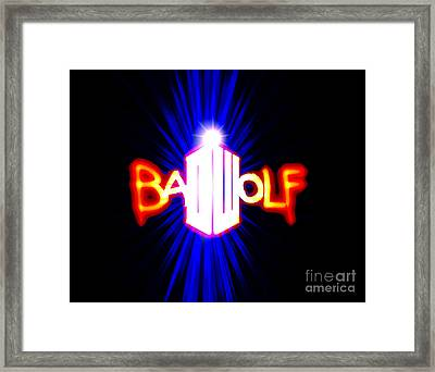 Bad Wolf Framed Print by Justin Moore