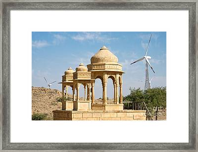 Framed Print featuring the photograph Bada Bagh And Windmill by Yew Kwang