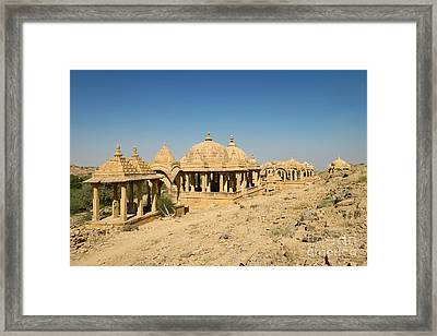 Framed Print featuring the photograph Bada Bagh Of Jaisalmer by Yew Kwang