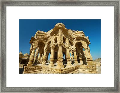 Framed Print featuring the photograph Bada Bagh  by Yew Kwang