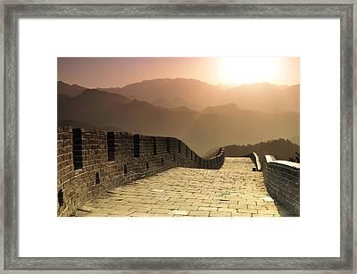 Badaling Great Wall, Beijing Framed Print