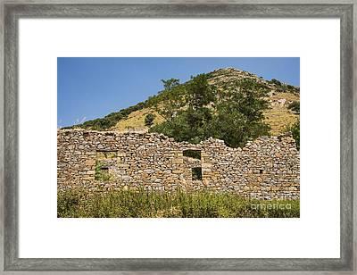 Bademli Village Ruins View 1 Framed Print