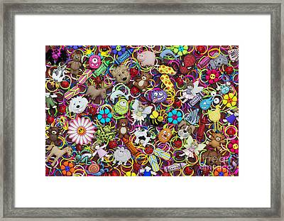Badges Bands And Monsters Framed Print by Tim Gainey