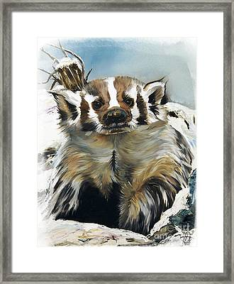 Badger - Guardian Of The South Framed Print