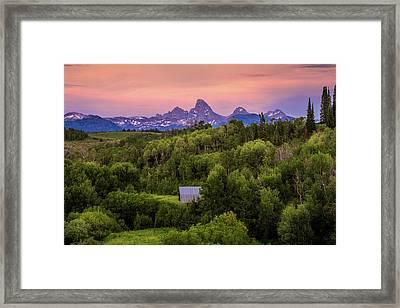 Badger Creek Sunset Framed Print by TL  Mair