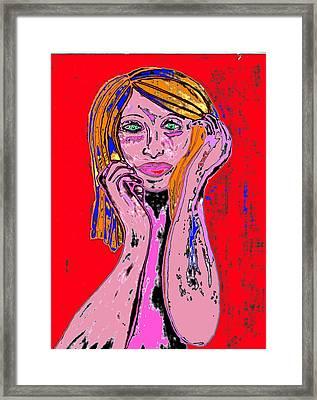 Badgirl Framed Print