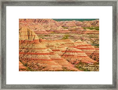 Badland Colors Framed Print by Steven Bateson