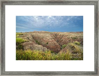 Badland Ravine Framed Print