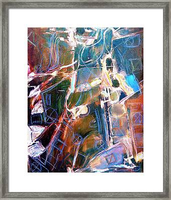 Framed Print featuring the painting Badlands 1 by Dominic Piperata