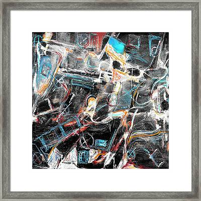 Framed Print featuring the painting Badlands 2 by Dominic Piperata