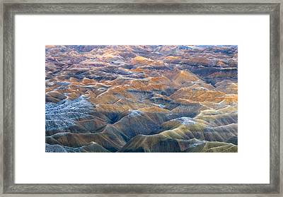 Badlands And Mud Hills Framed Print by Joseph Smith