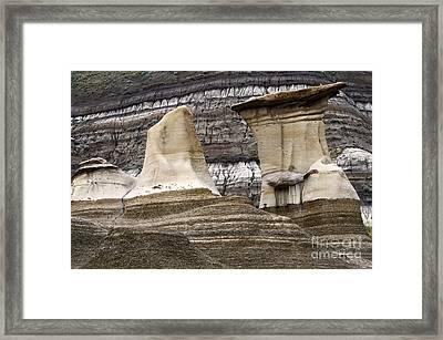 Badlands Drumheller Alberta Canada 3 Framed Print by Bob Christopher