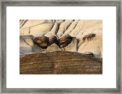 Badlands Drumheller Alberta Canada 4 Framed Print by Bob Christopher